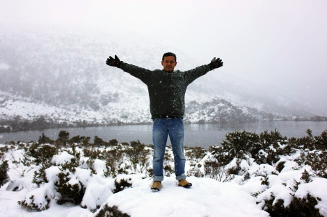It's me and the snow in Cradle Mountain