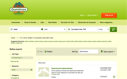 Gumtree website