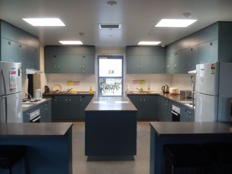 Kitchen facility in campus accommodation.