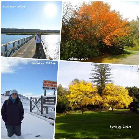 Enjoying four different seasons in Tasmania